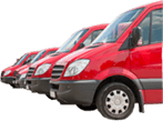 Image of vans to represent fleet servicing