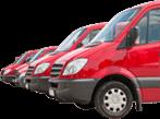 Image of vans to represent fleet servicing